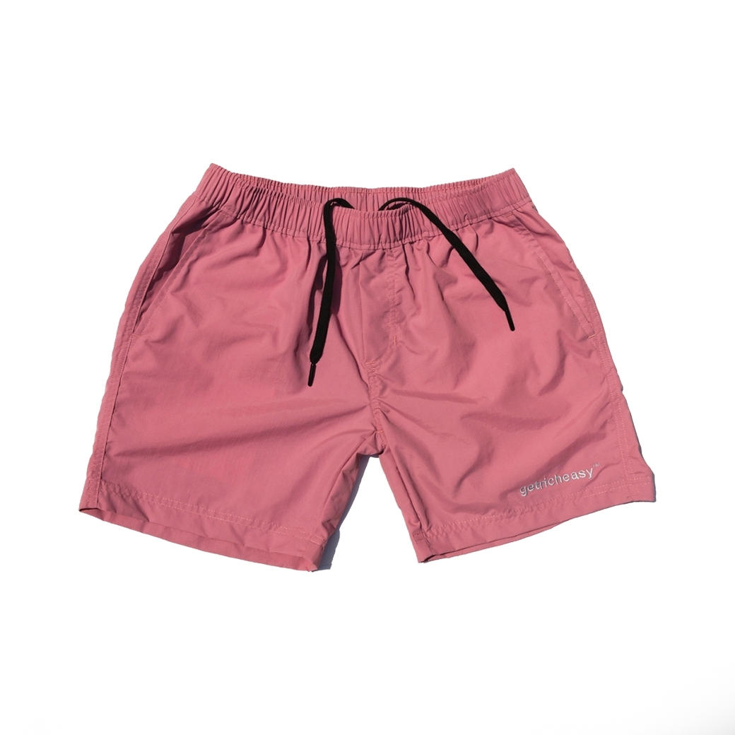 GET RICH EASY WATER SHORTS PINK