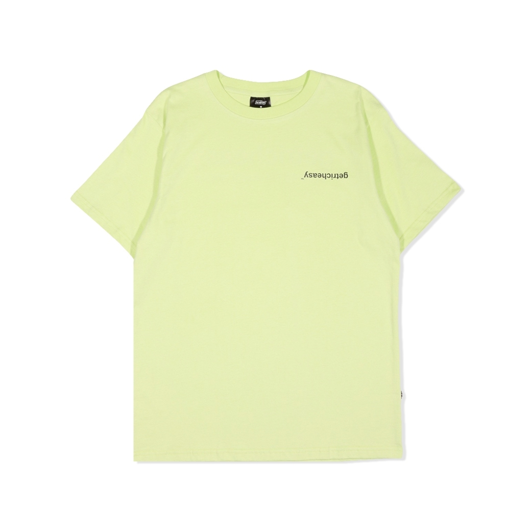GET RICH EASY FLIP LOGO TEE LIME