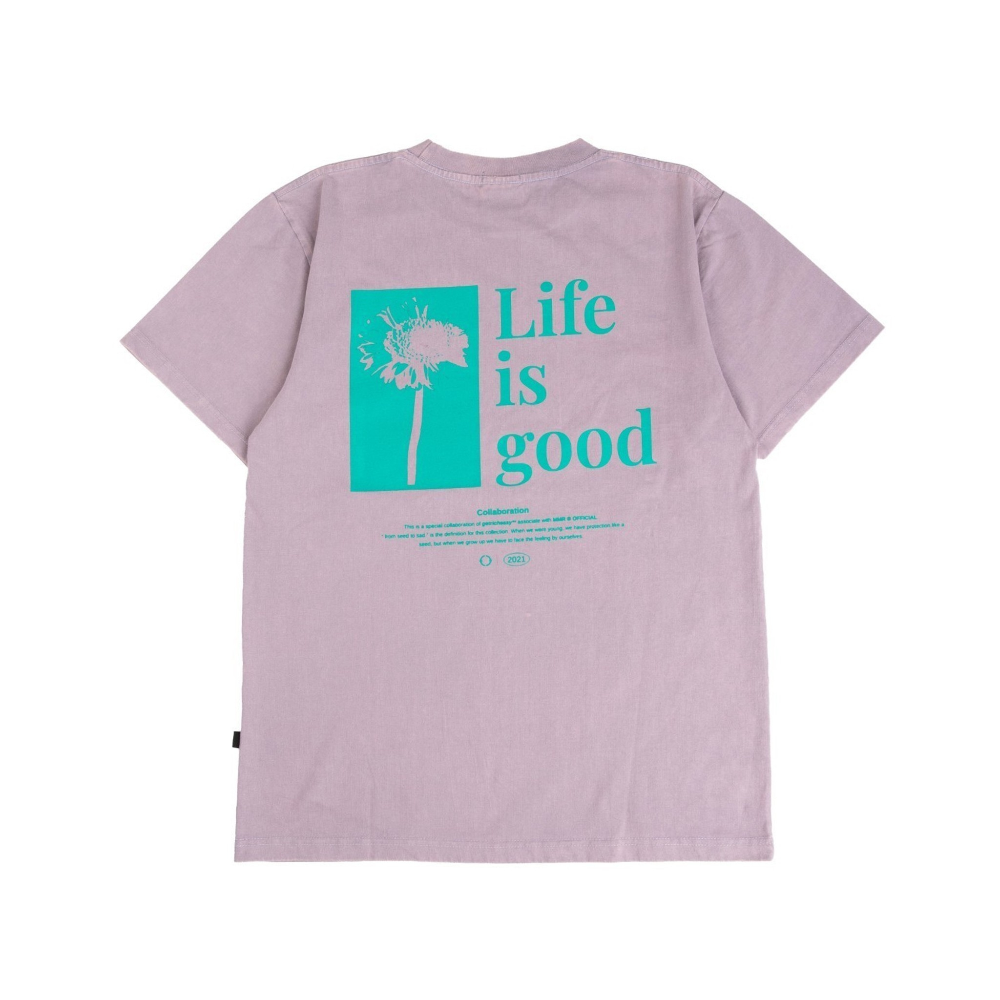 GET RICH EASY LIFE IS GOOD T-SHIRT LAVENDER