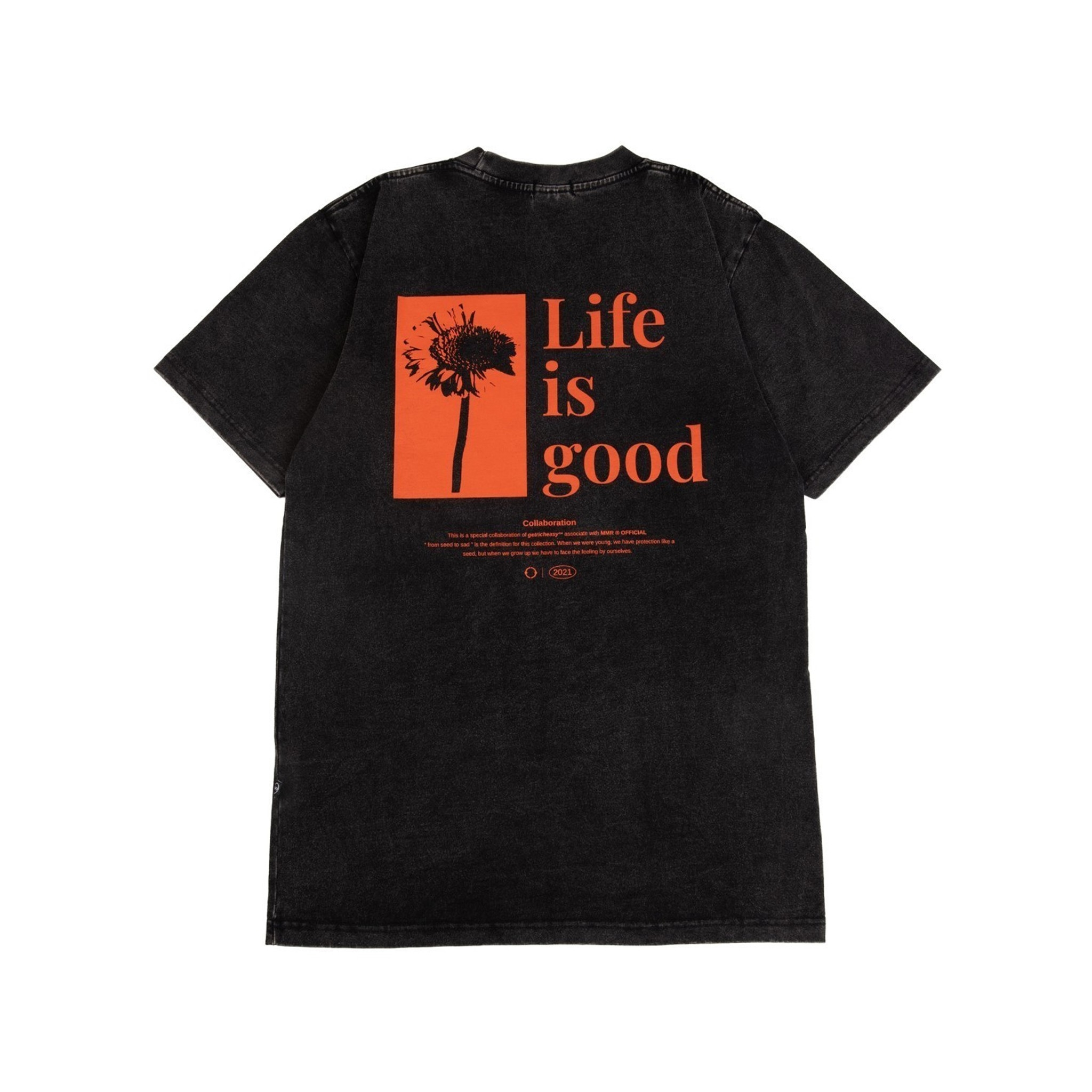 GET RICH EASY LIFE IS GOOD T-SHIRT BLACK