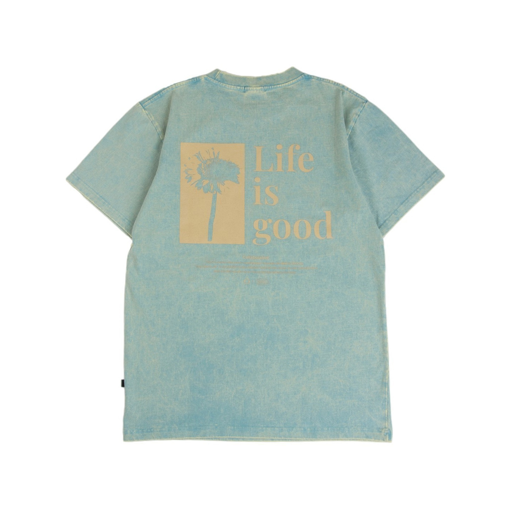 GET RICH EASY LIFE IS GOOD T-SHIRT LILY PAD