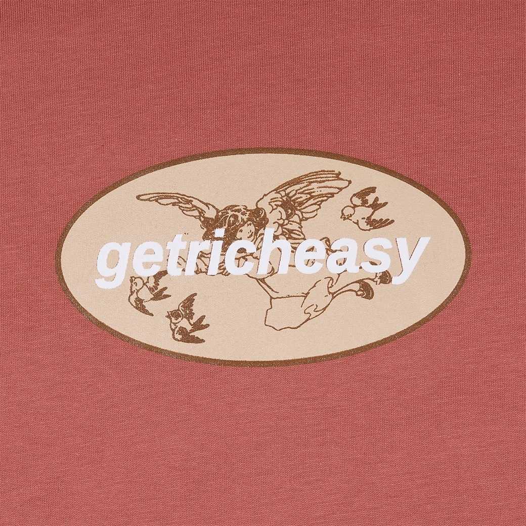 GET RICH EASY CUPID LOGO T-SHIRT RED
