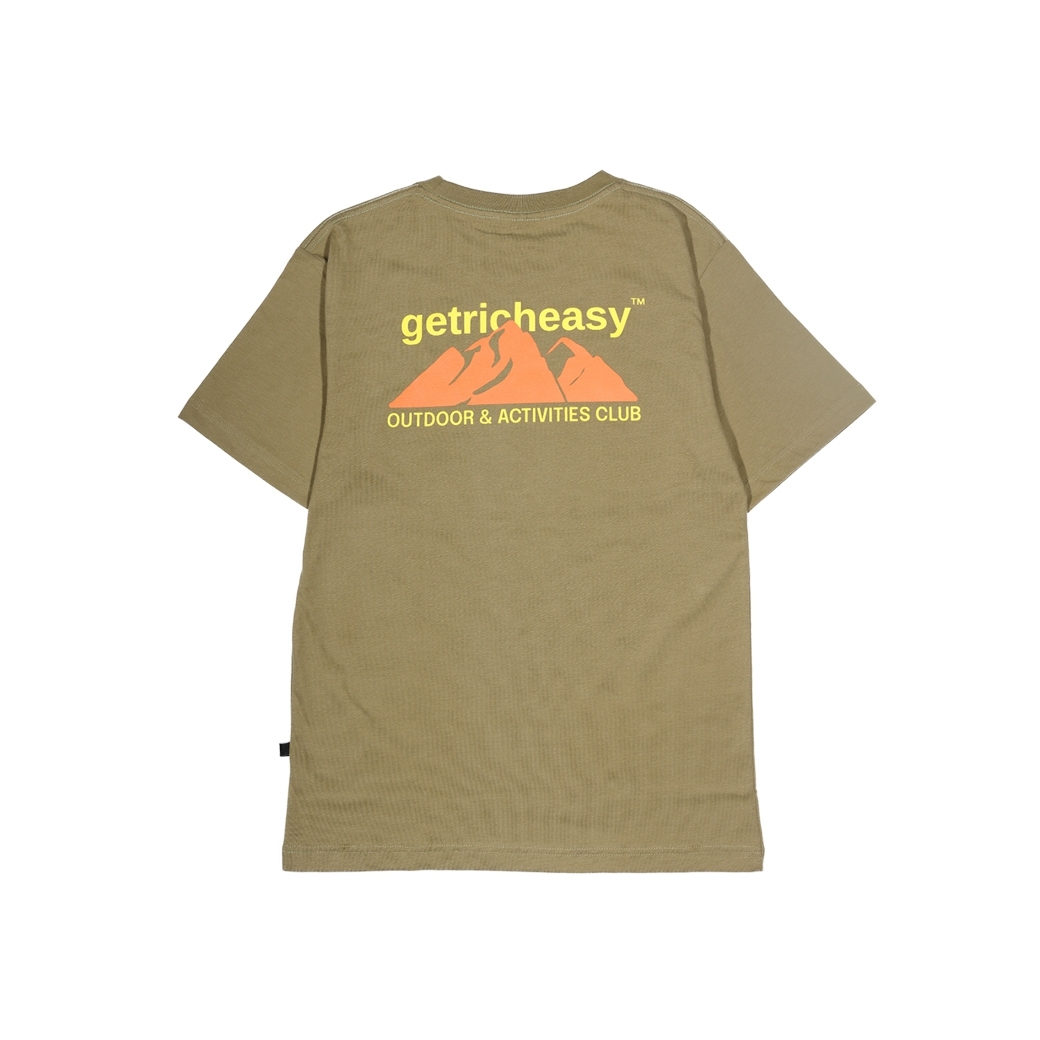 GET RICH EASY OUTDOOR TEE ARMY GREEN