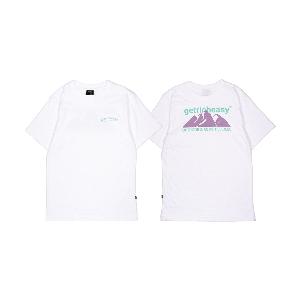 GET RICH EASY OUTDOOR TEE WHITE