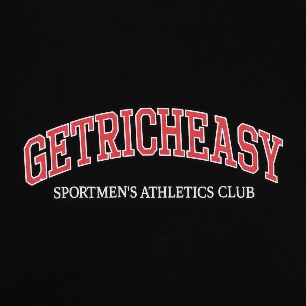 GET RICH EASY SPORT ATHLETICS CLUB T-SHIRT BLACK
