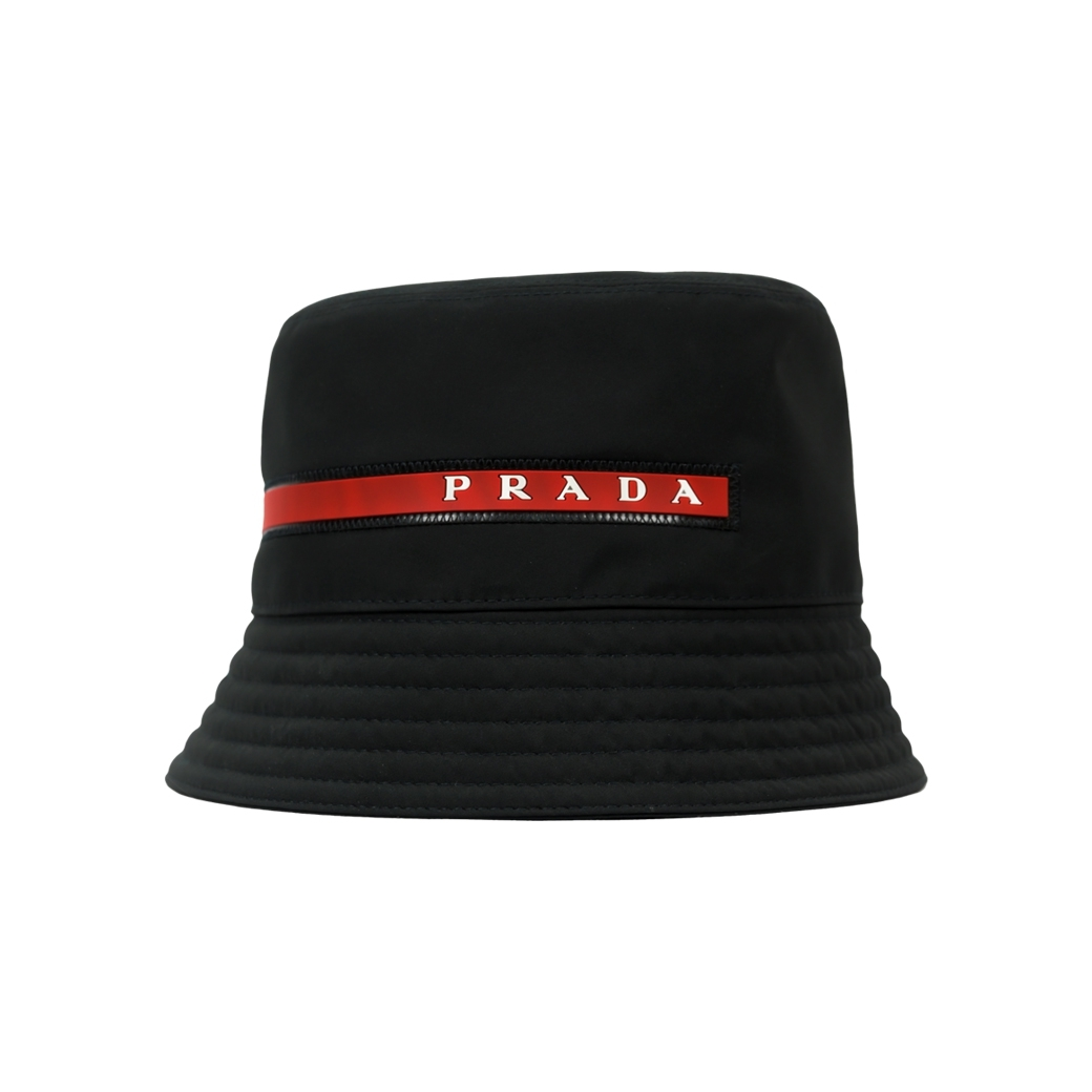 PRADA BUCKET HAT BLACK