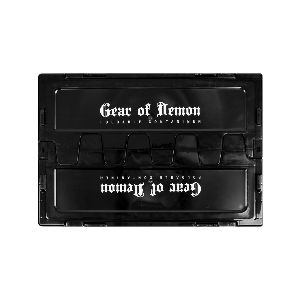 GEAR OF DEMON FOLDABLE CONTAINER BLACK