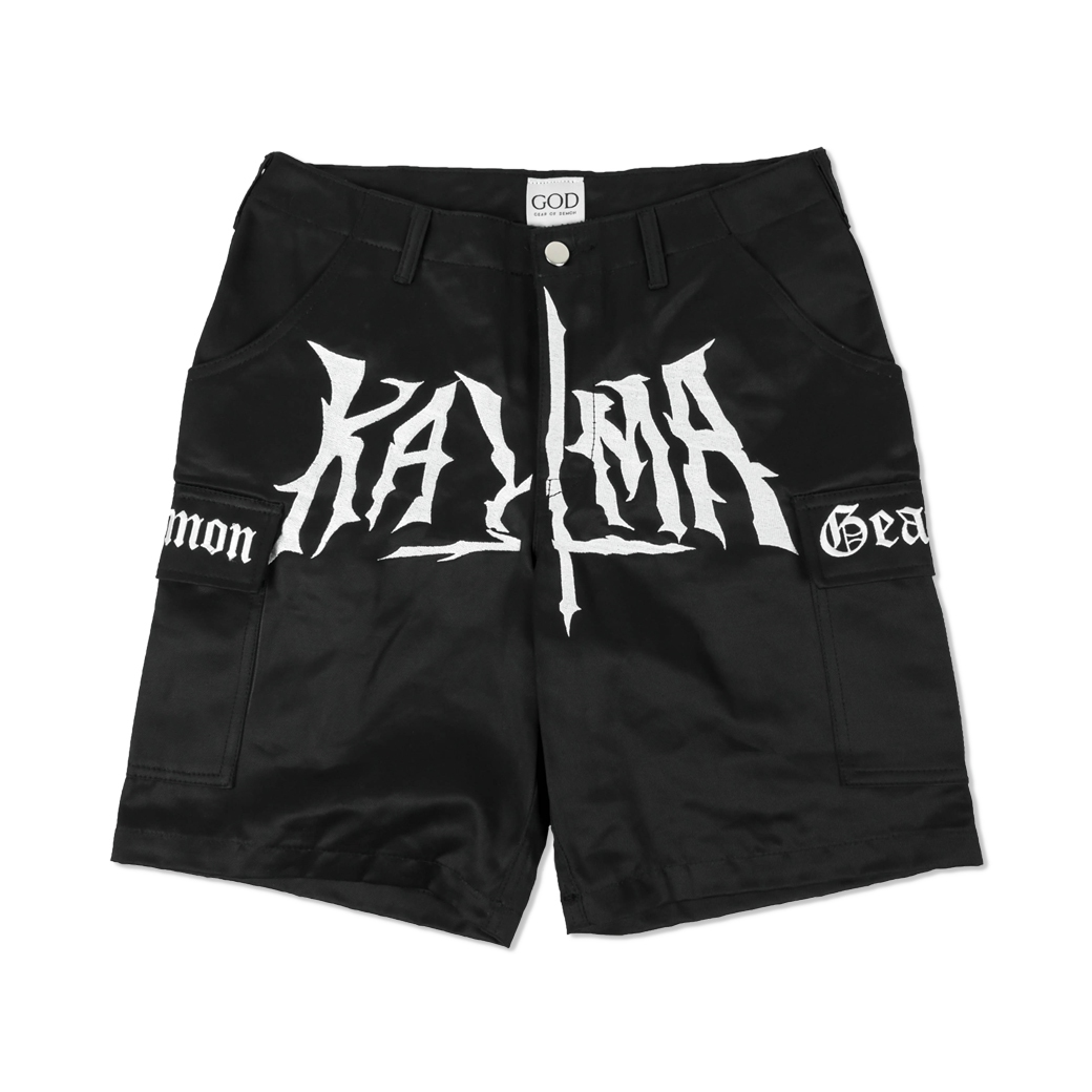 GEAR OF DEMON X KARMA HUMILITY KILLS PRIDE CARGO SHORT