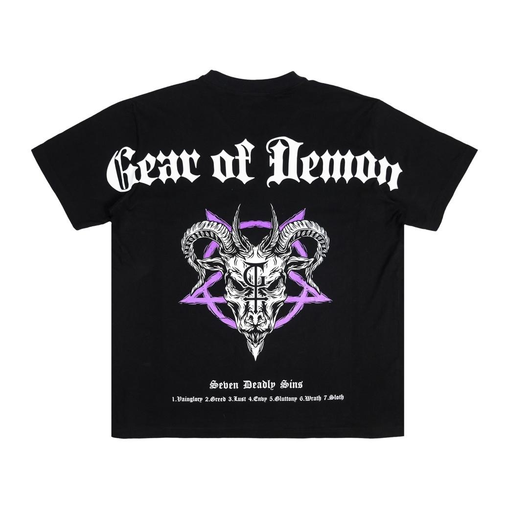 GEAR OF DEMON X TRIPPIE P GOAT T-SHIRT BLACK