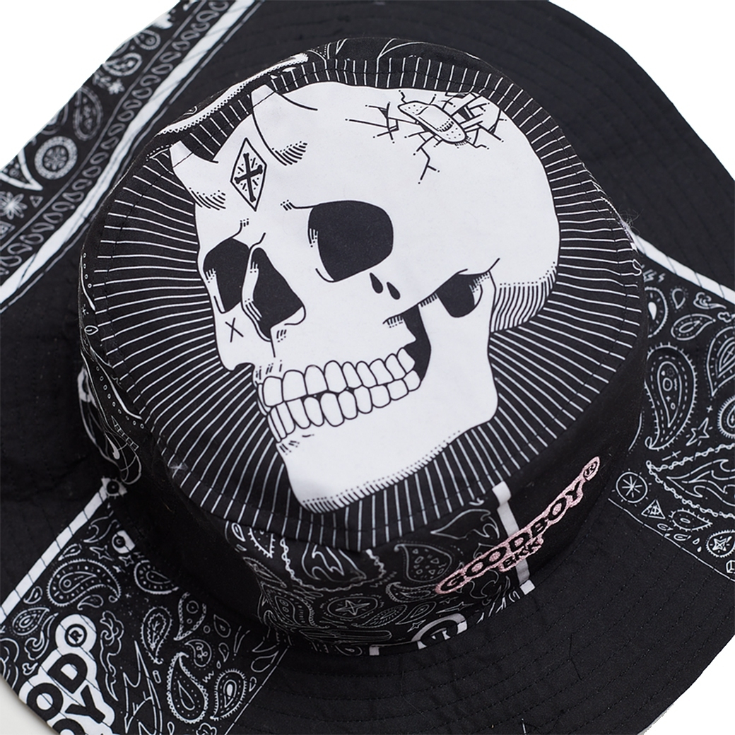 GOODBOY BANDANA PRINTED BUCKET BLACK