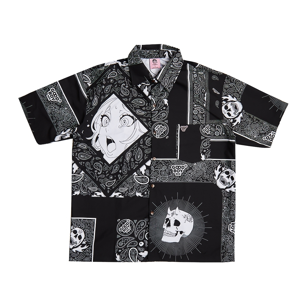 GOODBOY BANDANA PRINTED SHIRT BLACK