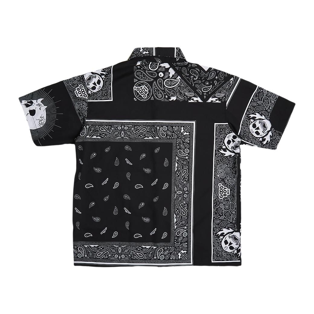 GOODBOY BANDANA PRINTED SHIRT BLACK
