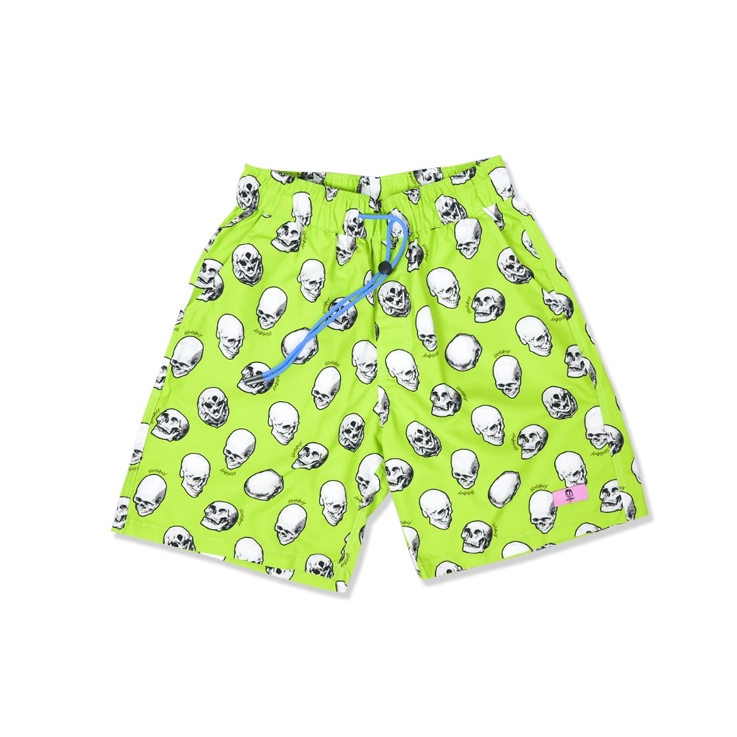 GOODBOY SKULL PRINTED SHORT GREEN