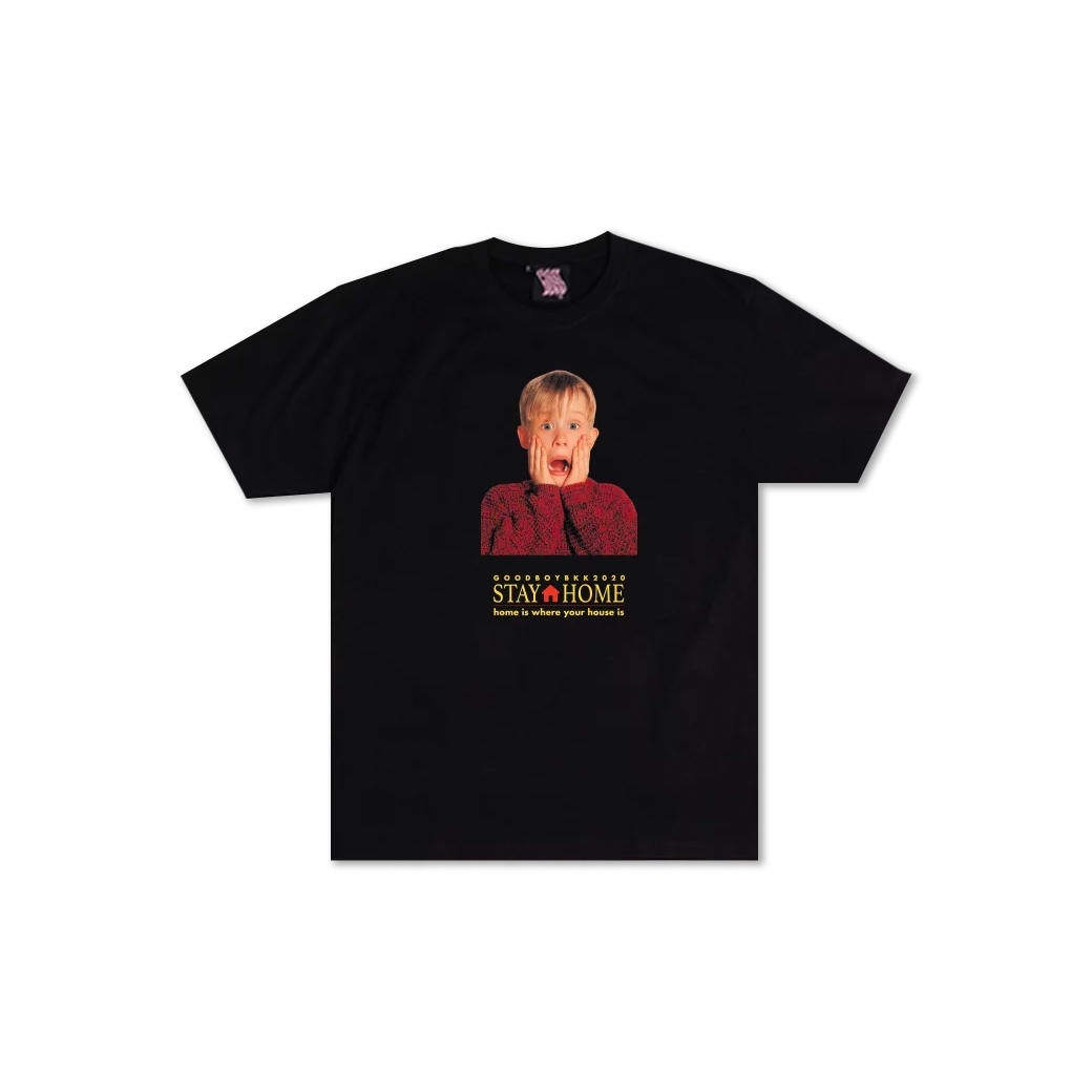 GOODBOY STAY HOME ALONE TEE BLACK