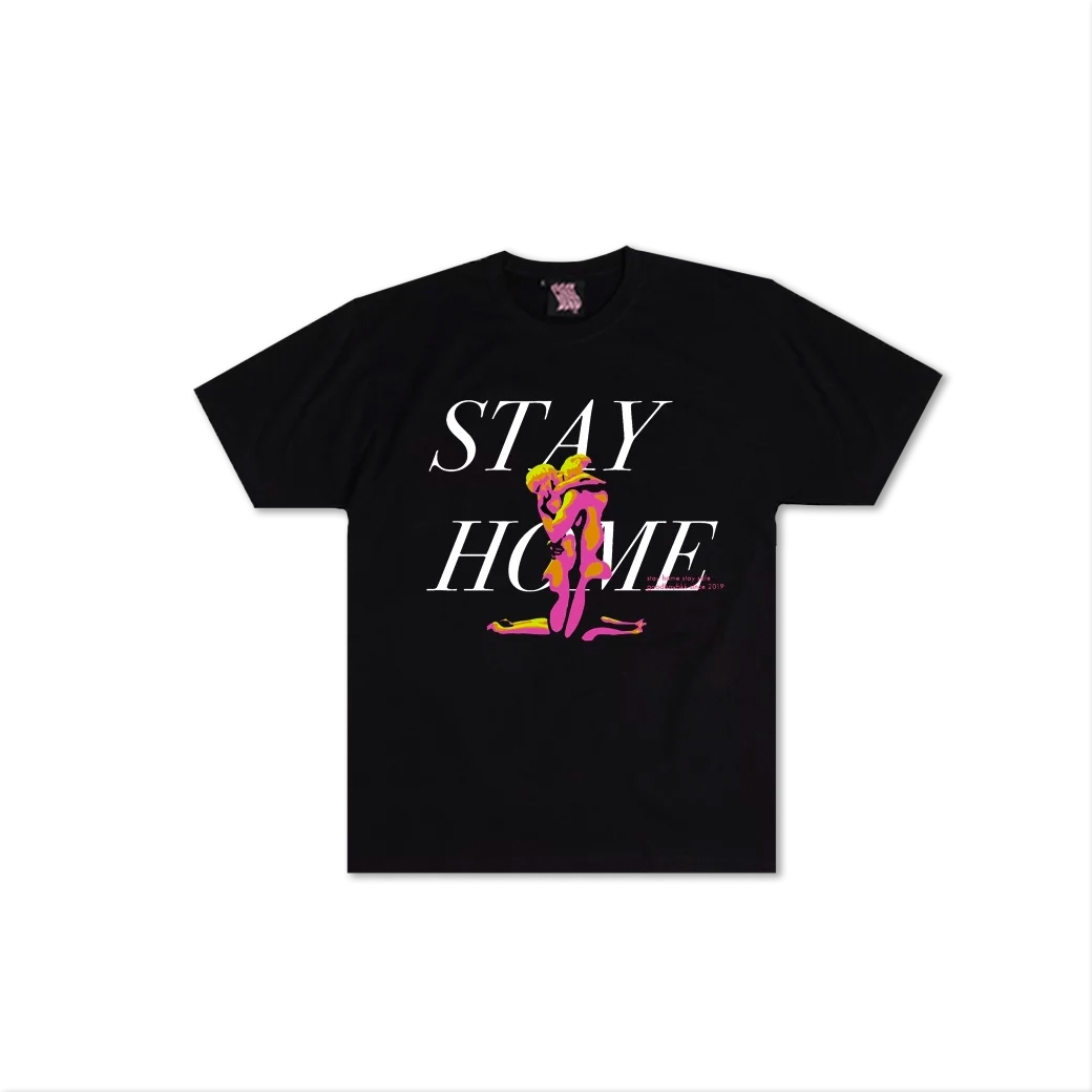 GOODBOY STAY HOME WITH YOU TEE BLACK
