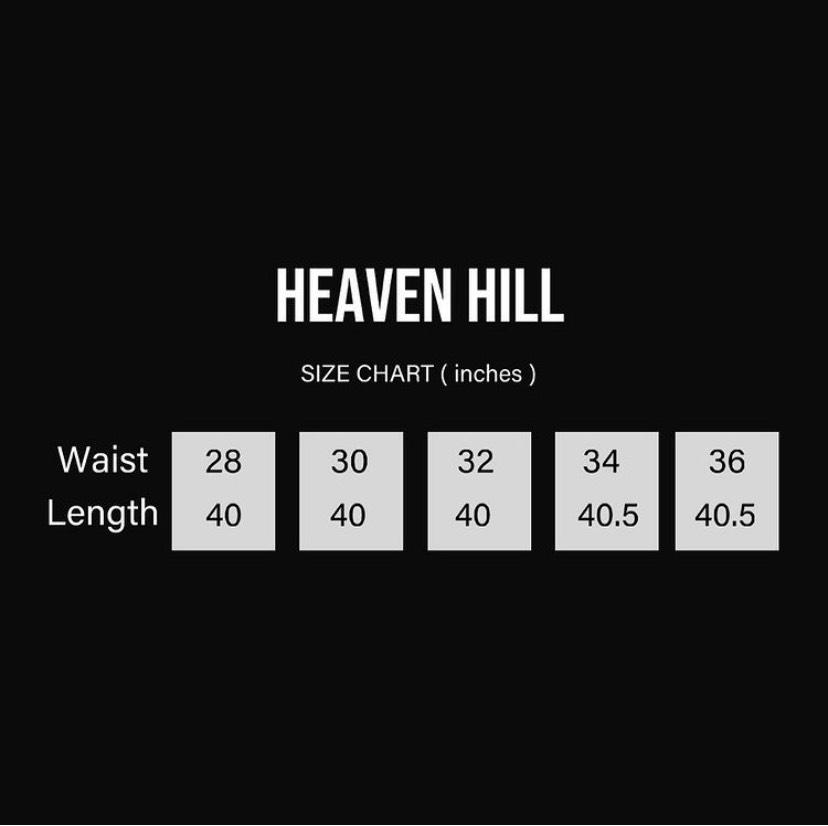 HEAVEN HILL DIAMOND CRYSTAL JEANS BLACK