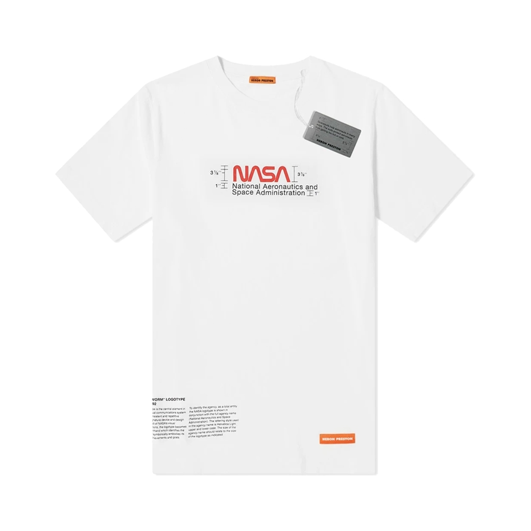 HERON PRESTON NASA REG T-SHIRT SS MANUAL WHITE