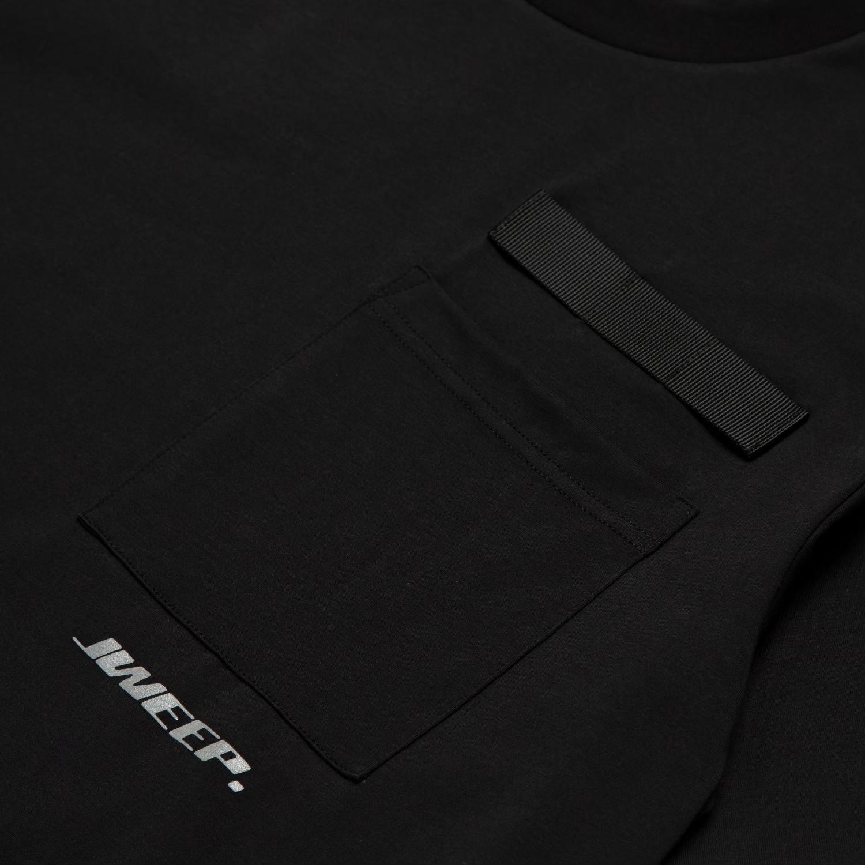 JWEEP JW-P004 POCKET T-SHIRT BLACK