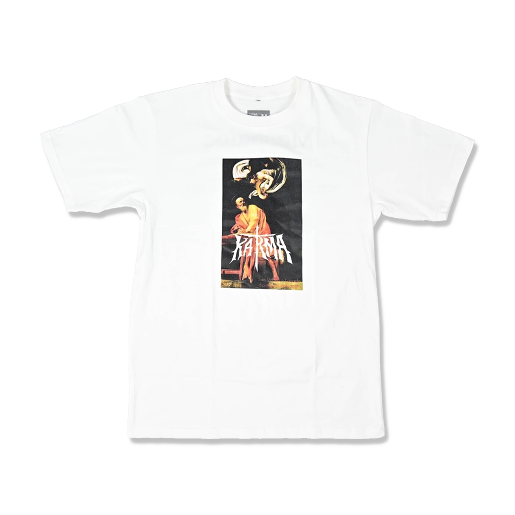 KARMA THE INSPIRATION OF SAINT MATTHEW TEE WHITE