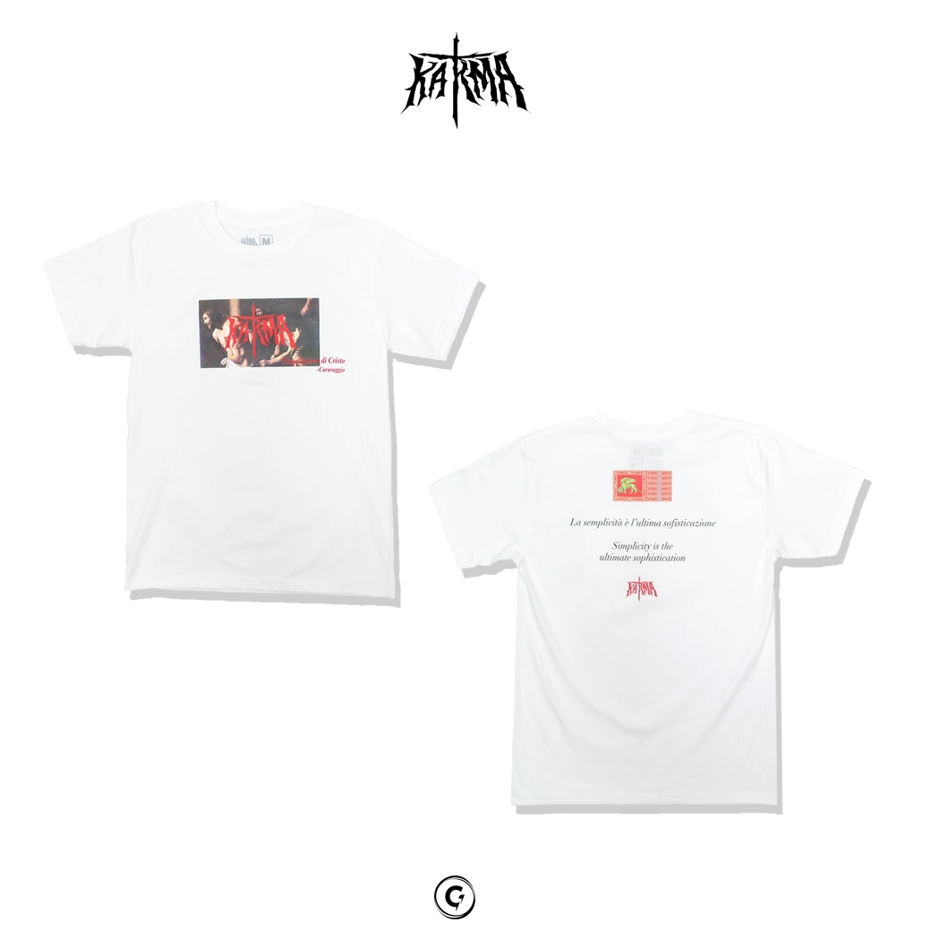 KARMA CHRIST AT THE COLUMN TEE WHITE