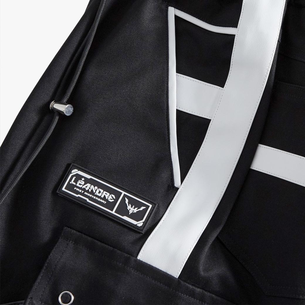 LÉANDRE MILITARY SCI-FI CARGO PANTS BLACK/WHITE