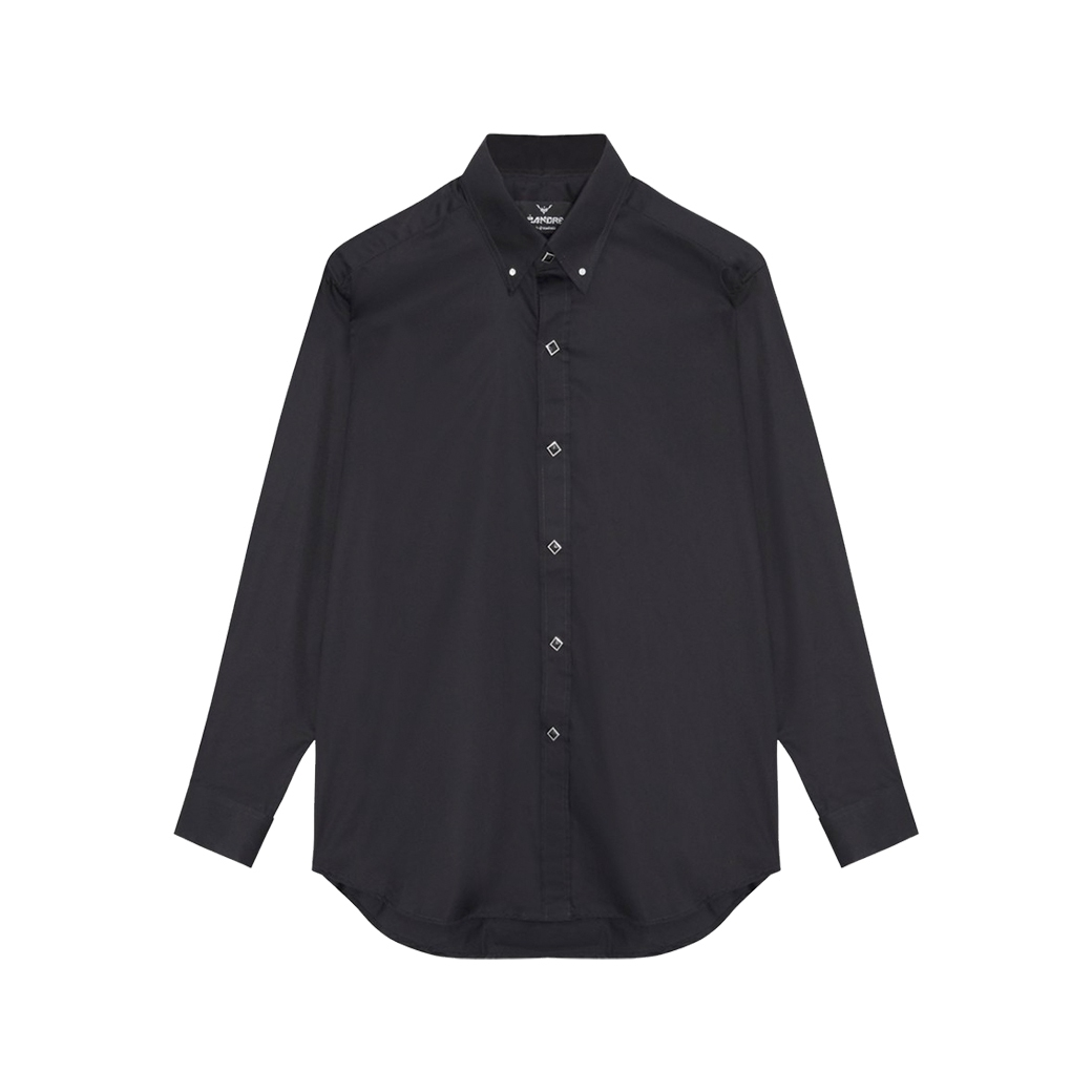 LÉANDRE LUXURY DIAMONDS L/S SHIRT BLACK