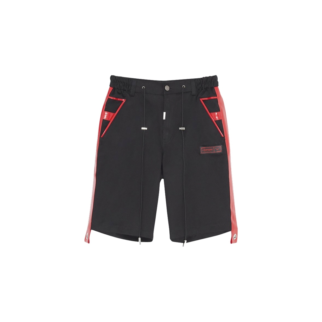 LÉANDRE DARK CRUCIFIX SHORT BLACK/RED