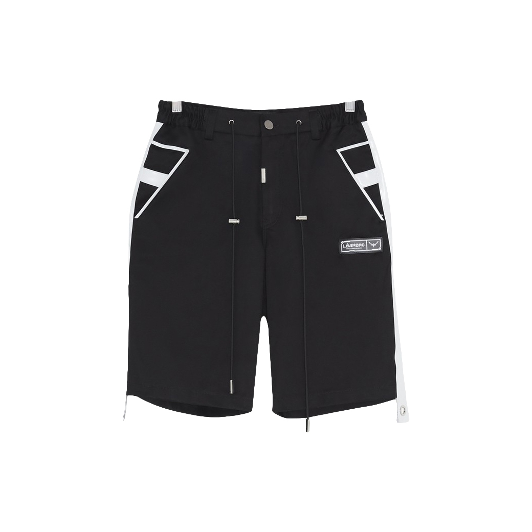 LÉANDRE ANGLE CRUCIFIX SHORTS BLACK