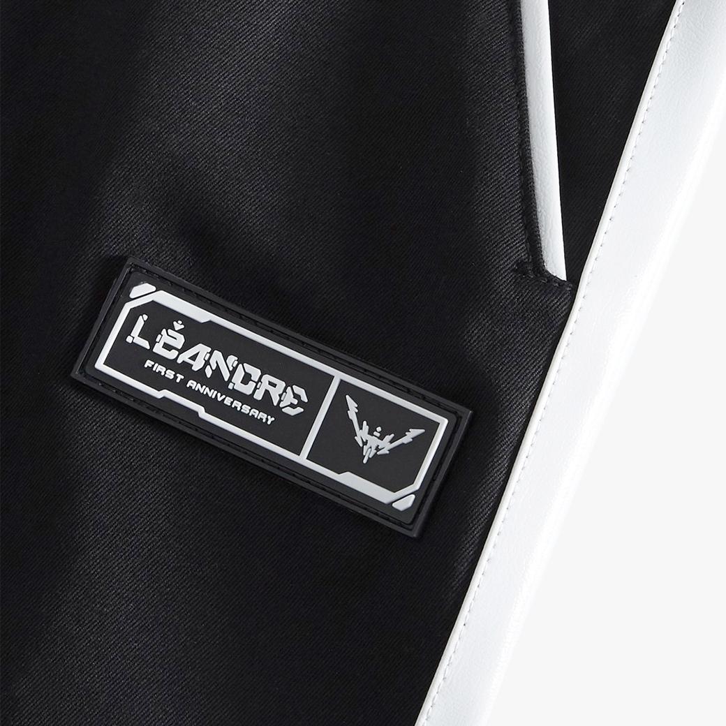 LÉANDRE ANGLE CRUCIFIX SHORTS BLACK