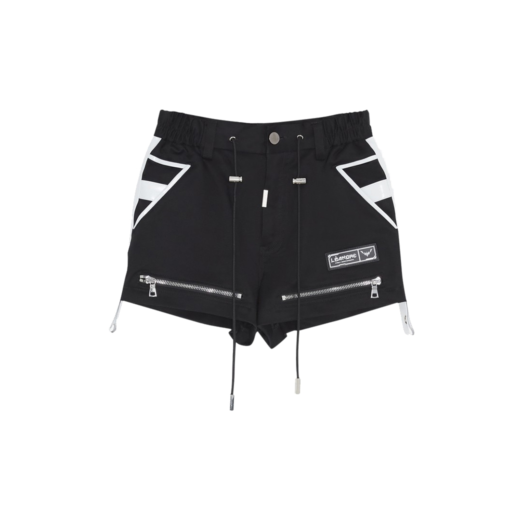 LÉANDRE SENORITA WOMEN SHORTS BLACK/WHITE