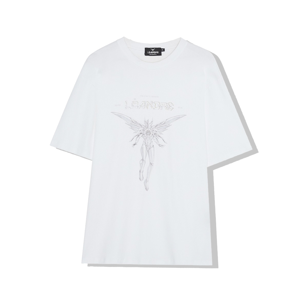 LÉANDRE FALCON X OVERSIZED T-SHIRT WHITE
