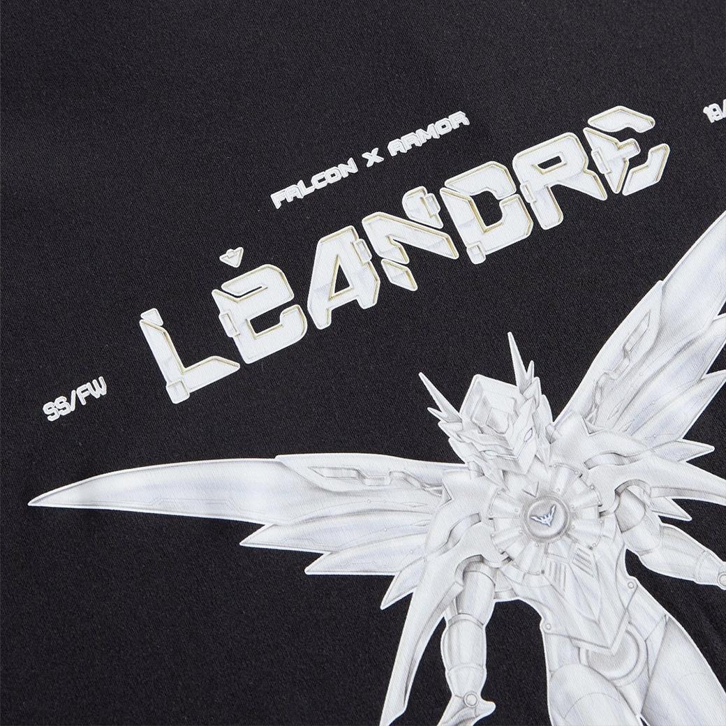 LÉANDRE FALCON X OVERSIZED TEE BLACK