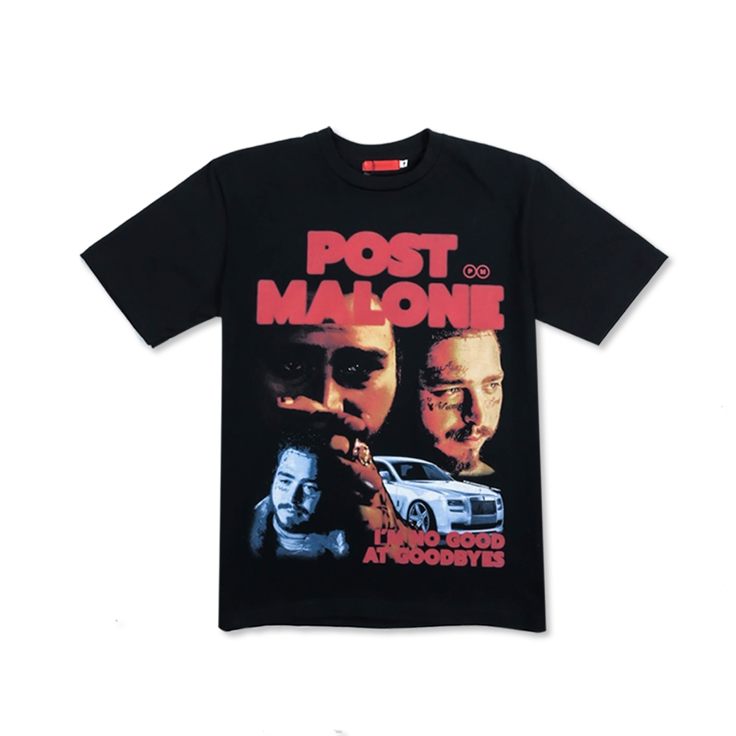 MAD MANIAC POST MALONE TEE BLACK