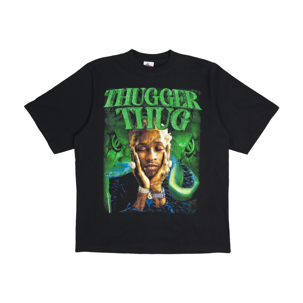 MAD MANIAC THUGGER THUG T-SHIRT BLACK