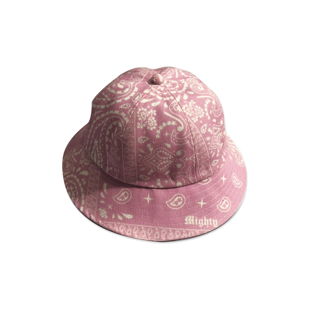 MIGHTY BANDANA BUCKET HAT 6PANEL PINK