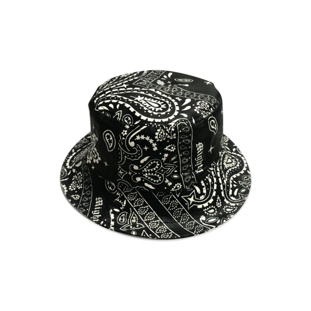 MIGHTY BANDANA BUCKET HAT BLACK