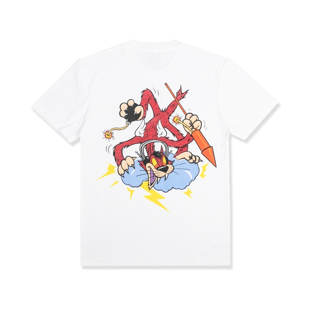 MIGHTY MAD CAT T-SHIRT WHITE
