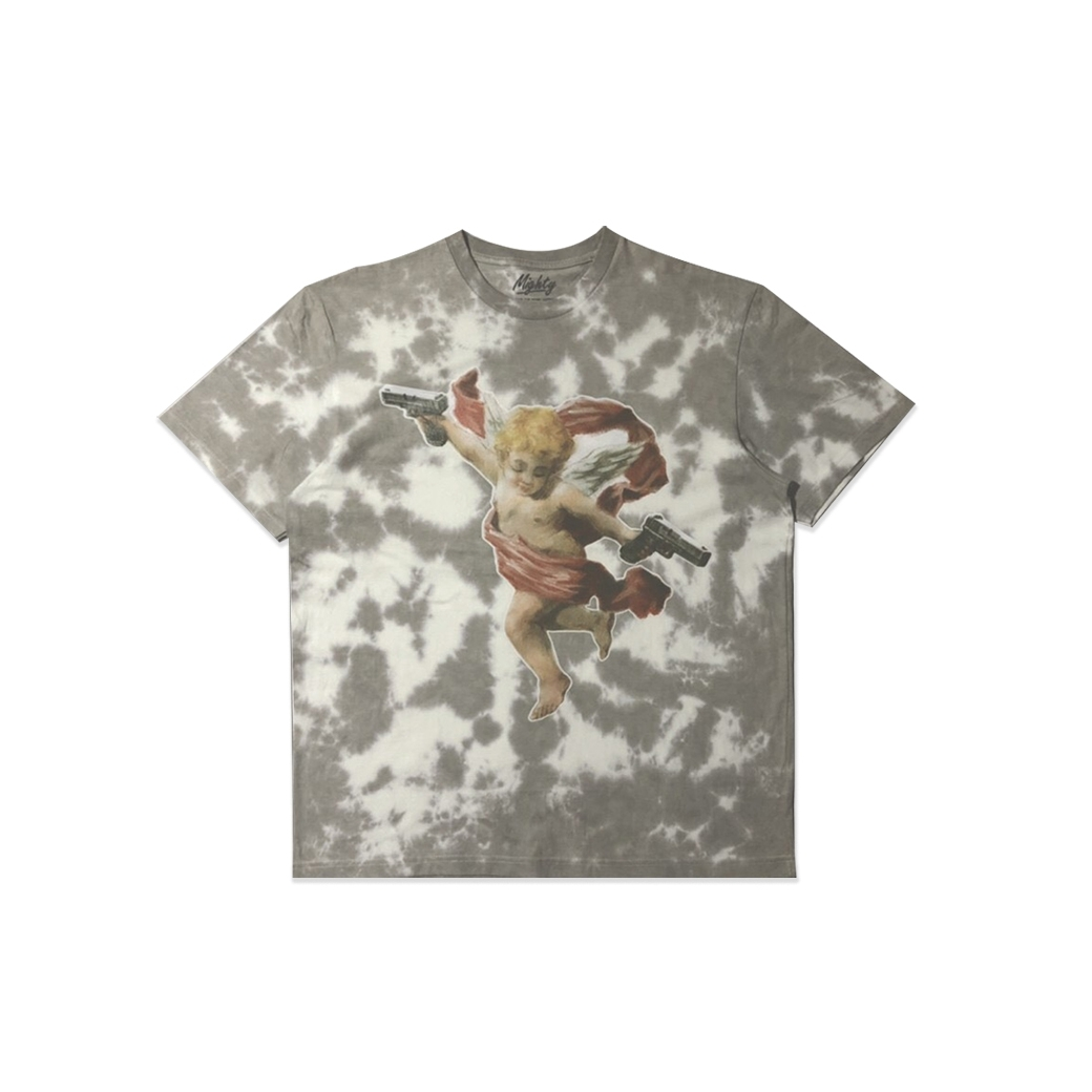 MIGHTY KILLPID TIE DYE TEE GREY