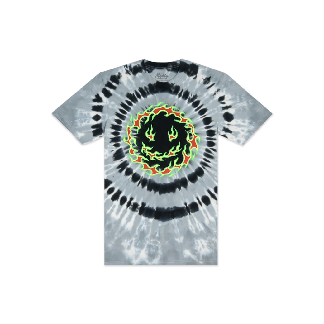 MIGHTY REVERSE FLAME TIE DYE T-SHIRT