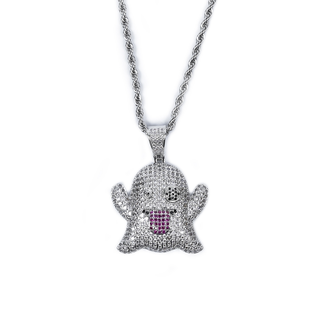 MR_GOLDss GHOST NECKLACE SILVER