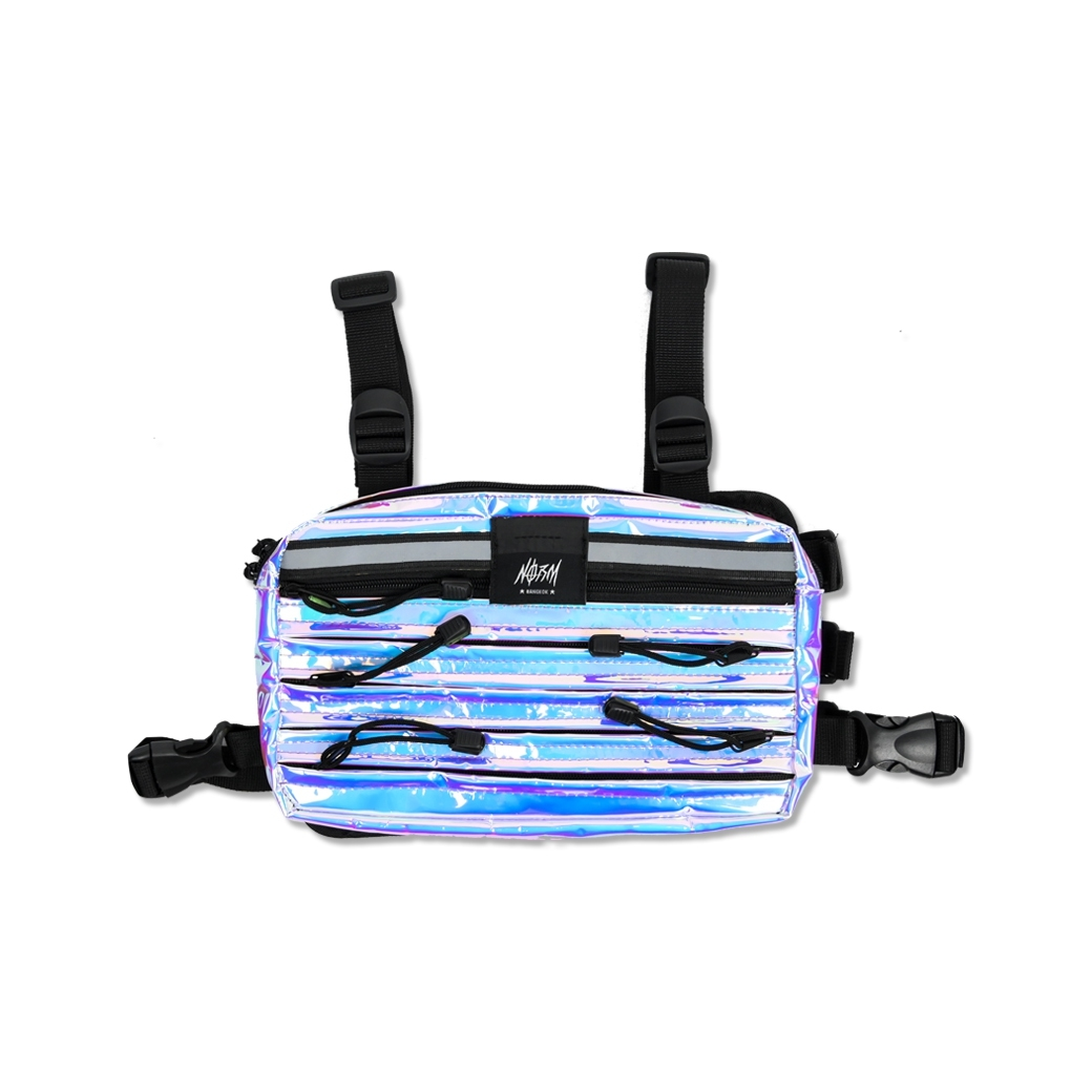 NORM TTANK HOLOGRAM CHEST BAG CHROME