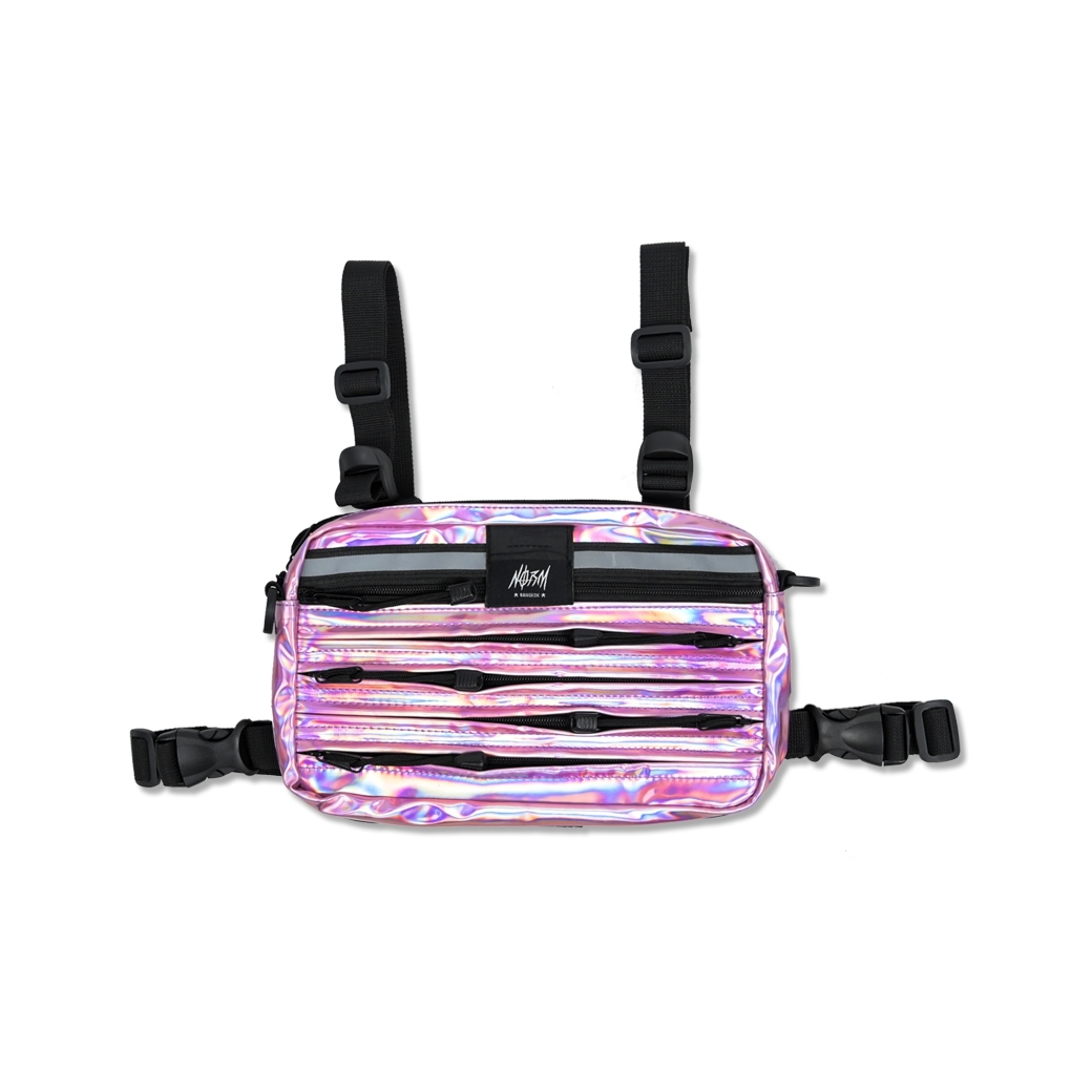 NORM TTANK HOLOGRAM CHEST BAG PINK