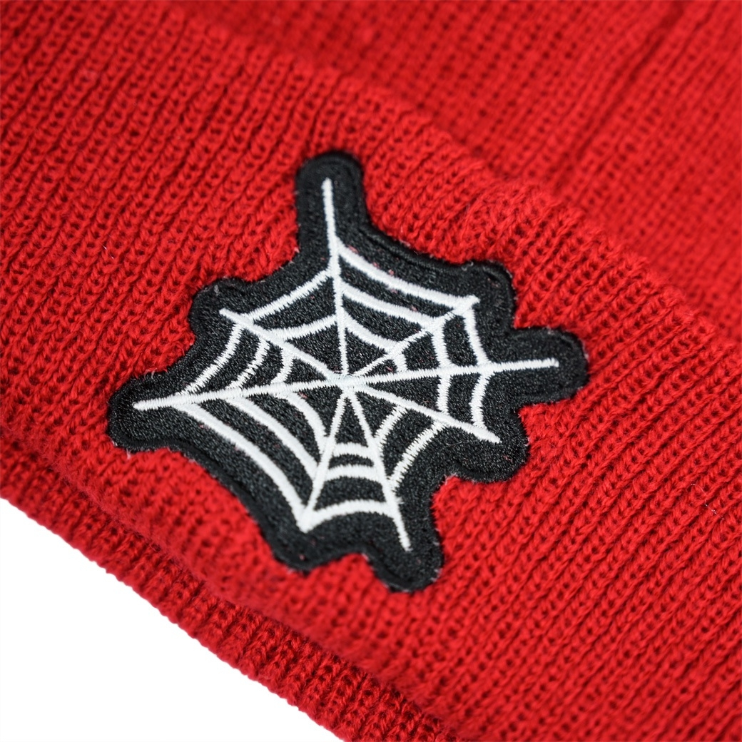 NORM SPIDER WEB BEANIE RED