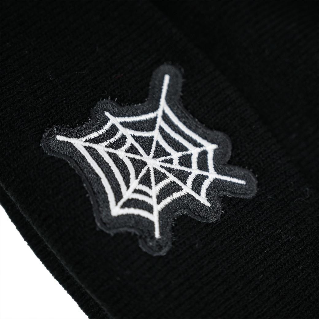 NORM SPIDER WEB BEANIE BLACK