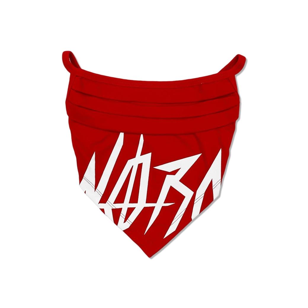 NORM BANDANA V-MASK LOGO RED