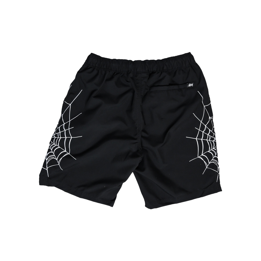 NORM SPIDER WEB SHORTS BLACK