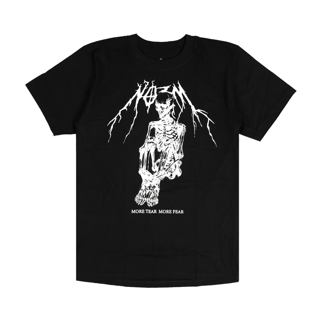 NORM X GEAR OF DEMON MORE TEAR  MORE FEAR TEE BLACK