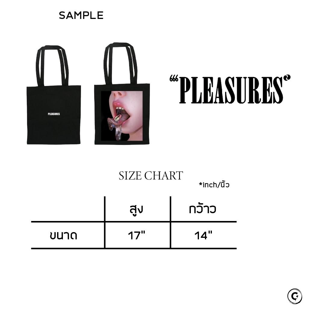 PLEASURES MEDICINE TOTE BAG BLACK