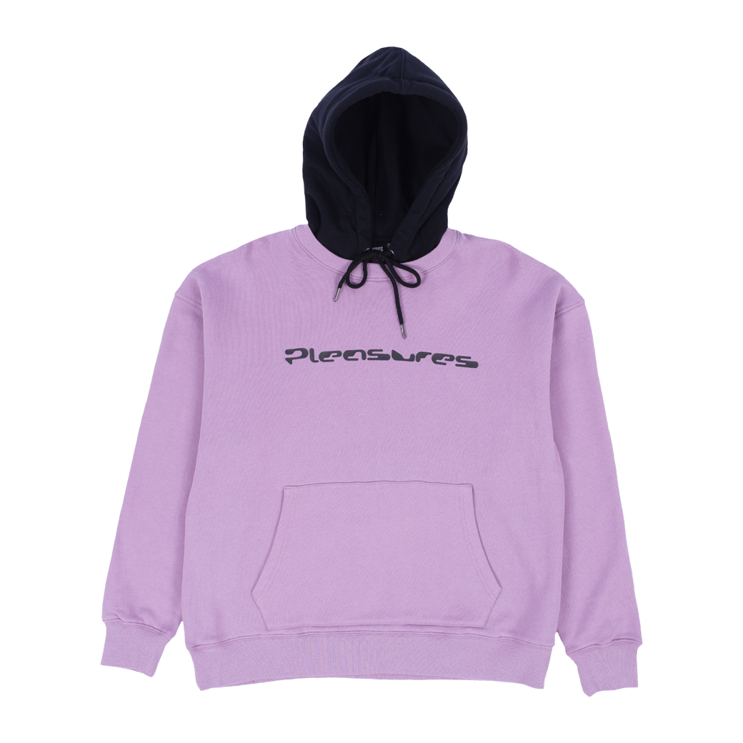 PLEASURES HARD DRIVE CREWNECK WITH HOODIE PURPLE