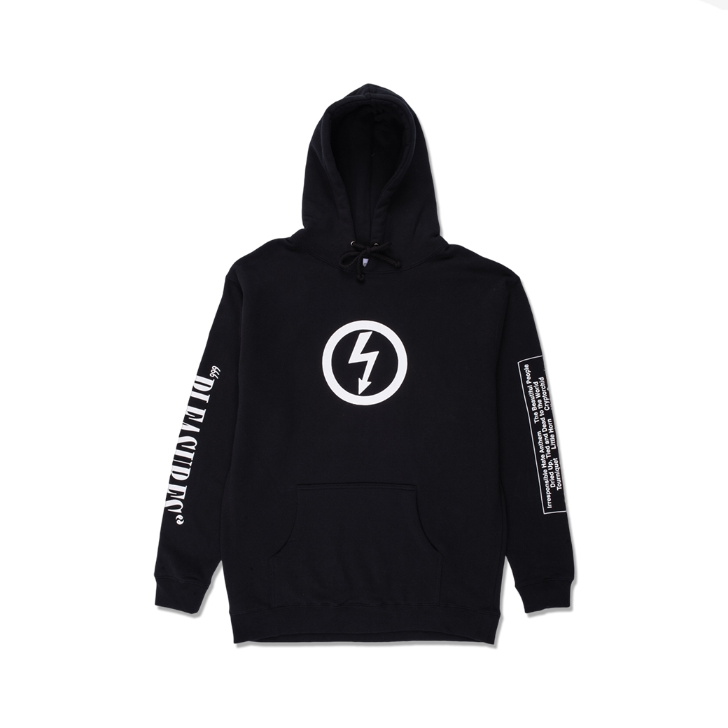 PLEASURES X MARILYN MANSON ANTICHRIST HOODIE BLACK
